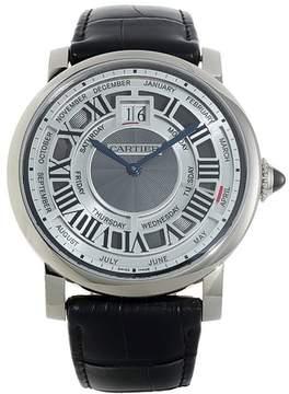 Cartier Rotonde de Perpetual Calendar Automatic 18 kt White Gold Men's Watch