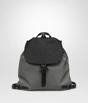 Bottega Veneta Light Gray Technical Canvas Backpack