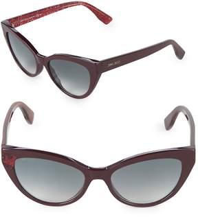 Jimmy Choo Women's Costy/S 54MM Cat-Eye Glitter Sunglasses