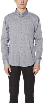 Naked & Famous Denim Dobby Button Up Shirt