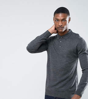 French Connection TALL Knitted Long Sleeve Polo