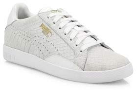 Puma Match Select Premium Snakeskin-Embossed Suede Sneakers