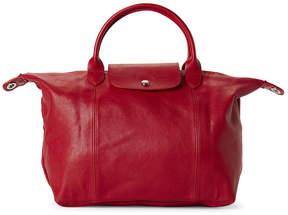 Longchamp Cherry Le Pliage Cuir Medium Satchel - RED - STYLE