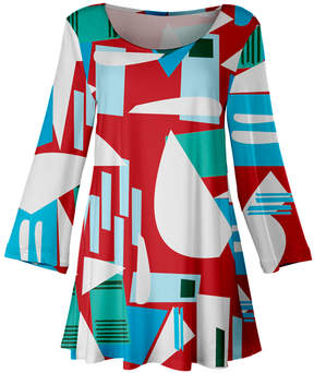 Lily Red Abstract Shape Scoop Neck Tunic - Women & Plus