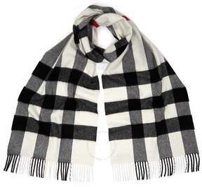 Burberry Classic Cashmere Scarf - White
