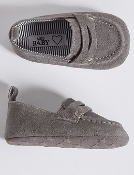 Marks and Spencer Baby Suede Pram Shoes
