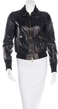 Bally Leather Bomber Jacket