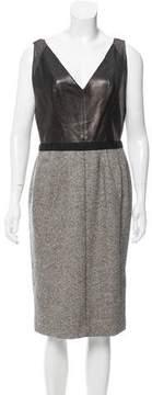 Kaufman Franco Kaufmanfranco Leather Contrasted Dress