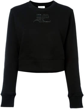 Courreges logo patch sweatshirt