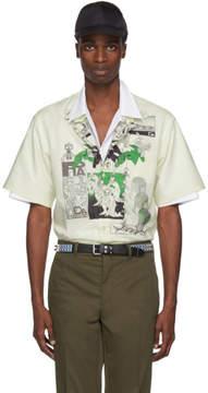 Prada Green Batista DNA Logo Shirt