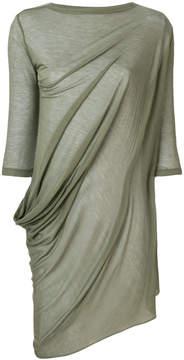 Rick Owens Lilies asymmetric draped blouse
