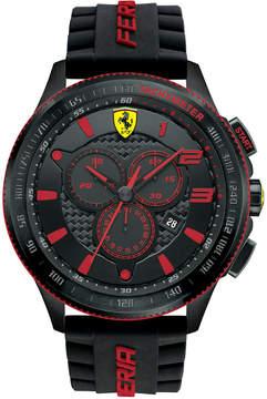 Ferrari Scuderia Men's Chronograph Scuderia Black Silicone Strap Watch 48mm 830138
