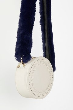 Faux Fur Long Bag Strap by Free People