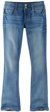 Mudd Girls Plus Size Double-Button Skinny Bootcut Jeans