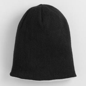 World Market Black and Gray Reversible Knit Hat