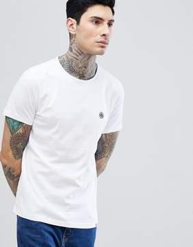 Pretty Green Mitchell Chest Logo T-Shirt in White