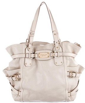 MICHAEL Michael Kors Perforated Leather Satchel - NEUTRALS - STYLE