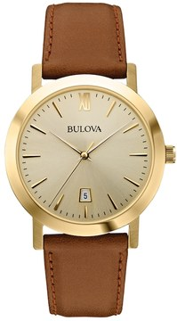 Bulova Men's Leather Watch - 97B135