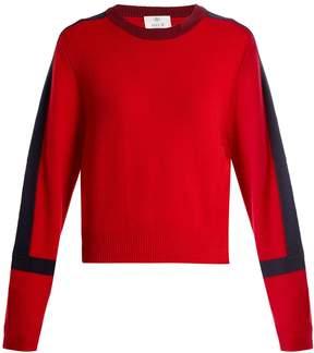 Allude Stripe-detail cashmere sweater