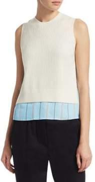 3.1 Phillip Lim Stripe Silk& Knit Top