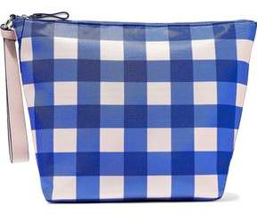 Diane von Furstenberg Origami Gingham Coated Canvas Clutch