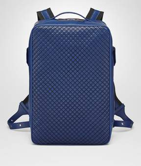 Bottega Veneta Cobalt Blue Calf Grid Brick Backpack