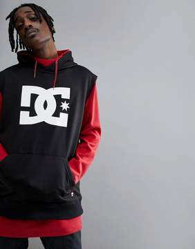DC Snow Dryden Hoodie With Double Layered Body in Red