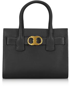Tory Burch Gemini Link Black Leather Small Tote Bag - ONE COLOR - STYLE