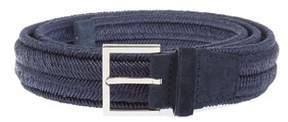 Orciani Men's Blue Cotton Belt.