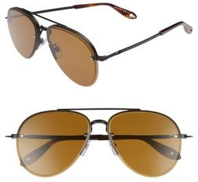 Givenchy Men's 62Mm Aviator Sunglasses - Light Gold/ Gray Green