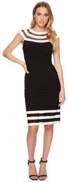 Adrianna Papell Matte Jersey Color Block Sheath Women's Dress