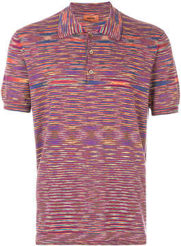 Missoni multi-stripe polo top