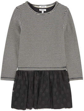 3 Pommes Bi-material dress and printed T-shirt