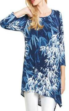 Clara Sunwoo Navy White Fern Top