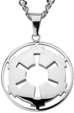 Star Wars FINE JEWELRY Stainless Steel Galactic Empire Symbol Cutout Pendant Necklace