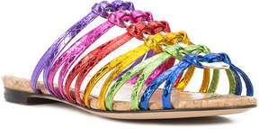Charlotte Olympia Metallic rainbow sandals