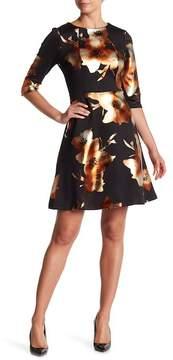 ECI Floral Scuba Dress
