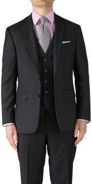 Charles Tyrwhitt Charcoal Classic Fit Twill Business Suit Wool Jacket Size 38