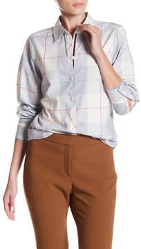 Foxcroft Long Sleeve Shaped Plaid Print Shirt