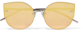 Gentle Monster Ami Adam Cat-eye Rose Gold-tone Mirrored Sunglasses