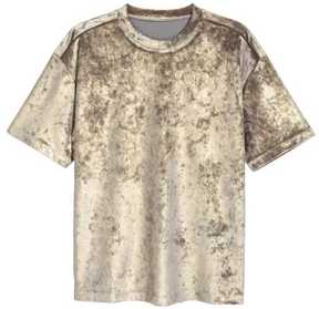 H&M Velour T-shirt