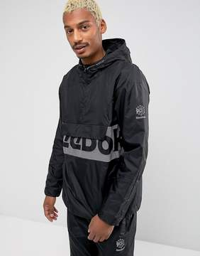 Reebok 1/4 Zip Windbreaker In Black BQ5522