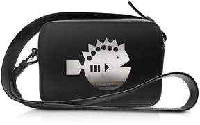 Emporio Armani Cyber Waterworld Leather Crossbody Bag