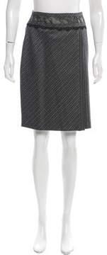Blumarine Lace-Trimmed Wool Skirt