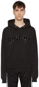 Misbhv Rave Me Patch Hooded Cotton Sweatshirt