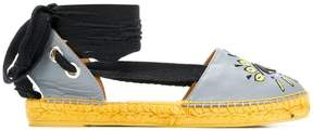 Kenzo embroidered D'orsay espadrilles