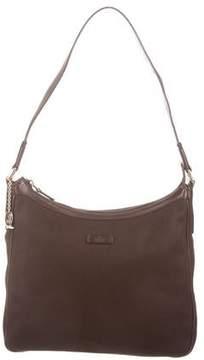 Gucci Leather-Trimmed Shoulder Bag - BROWN - STYLE