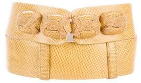 Judith Leiber Leather Embellished Belt