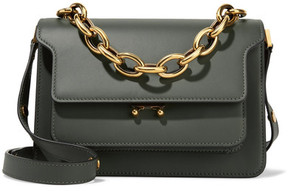 Marni - Trunk Medium Leather Shoulder Bag - Sage green