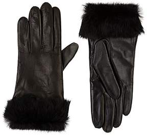 Barneys New York WOMEN'S FUR-CUFF TECH-SMART LEATHER GLOVES